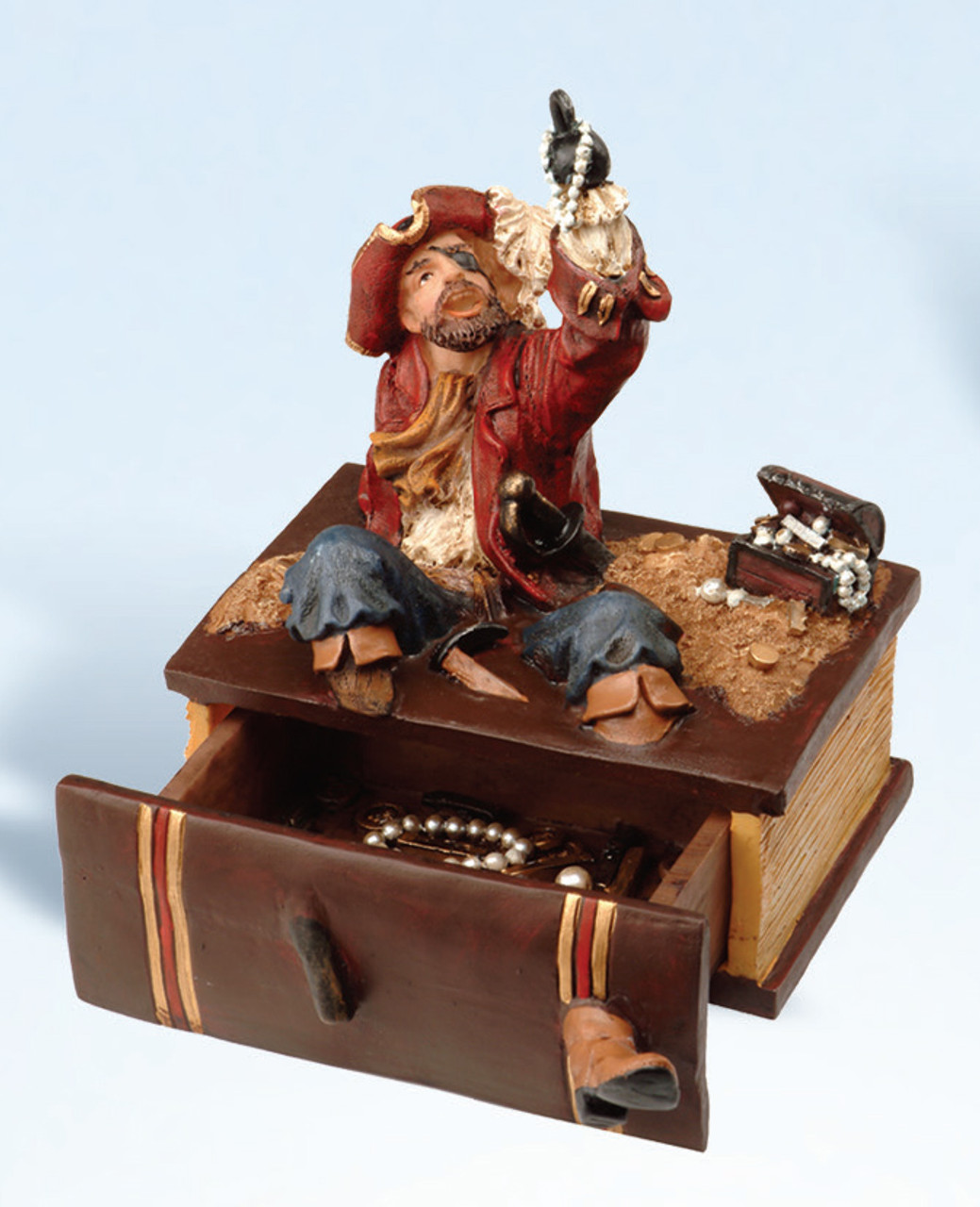 Card Deck Holder - Red Coat Pirate