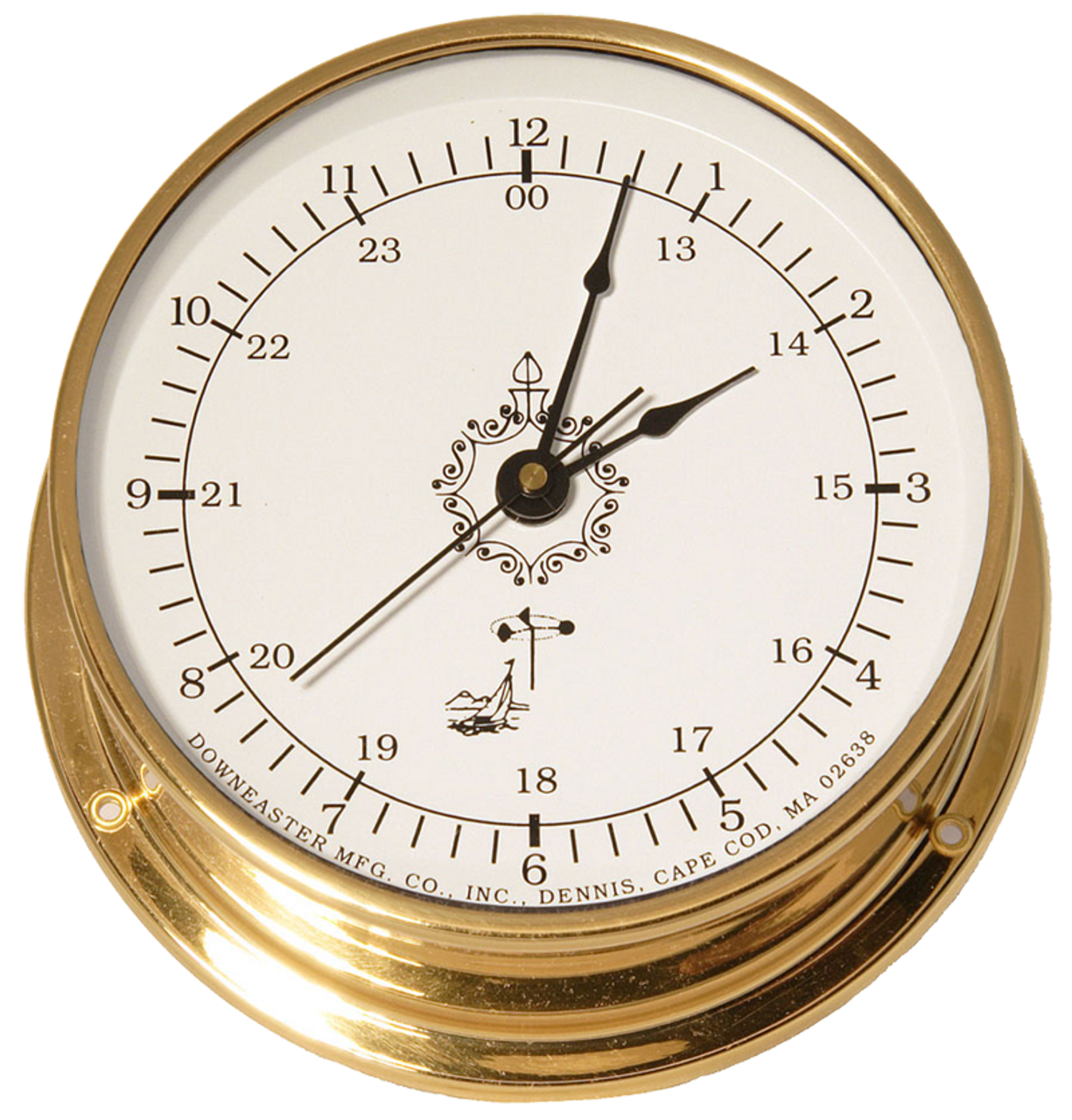"Downeaster Clock, White - 6"""
