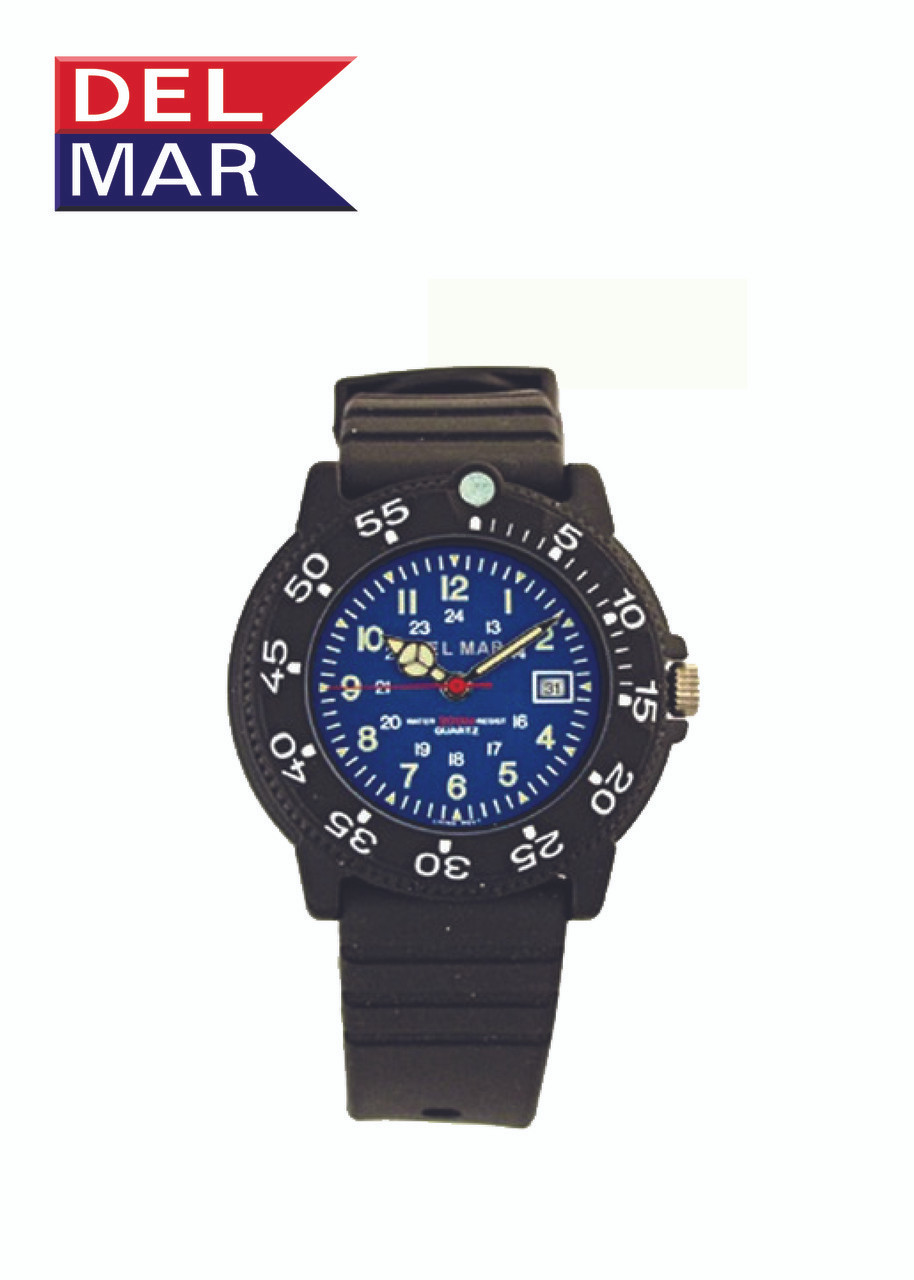 Del Mar Women's 200M Dive Watch with PU Band - Blue Face