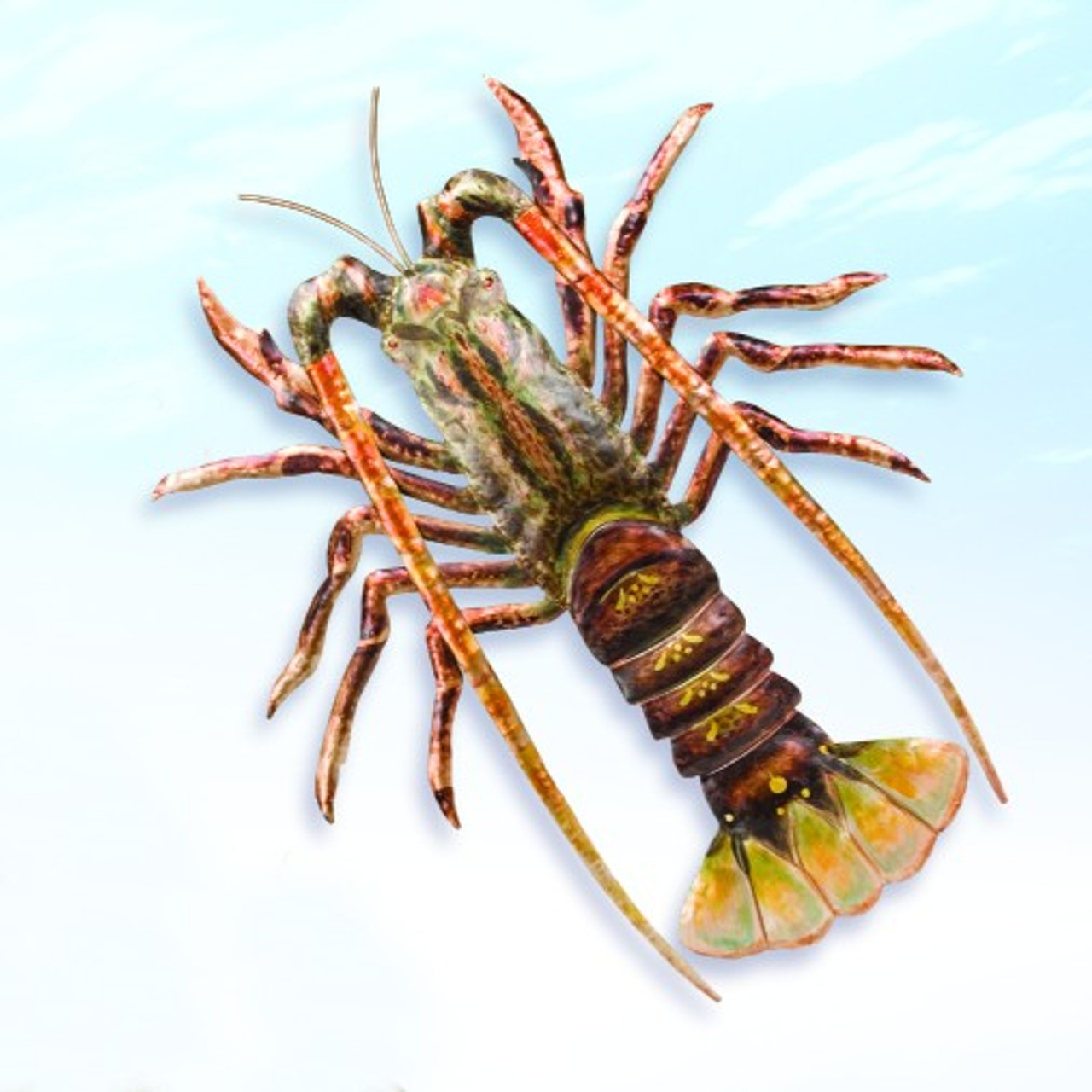 Decorative Metal Lobster Wall Hanging