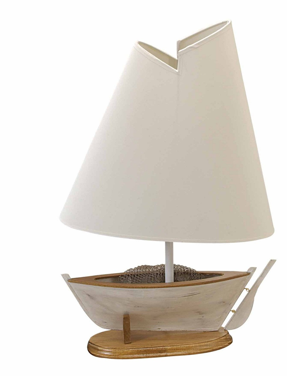 """Table Lamp with Fishing Boat Base 21"""""""