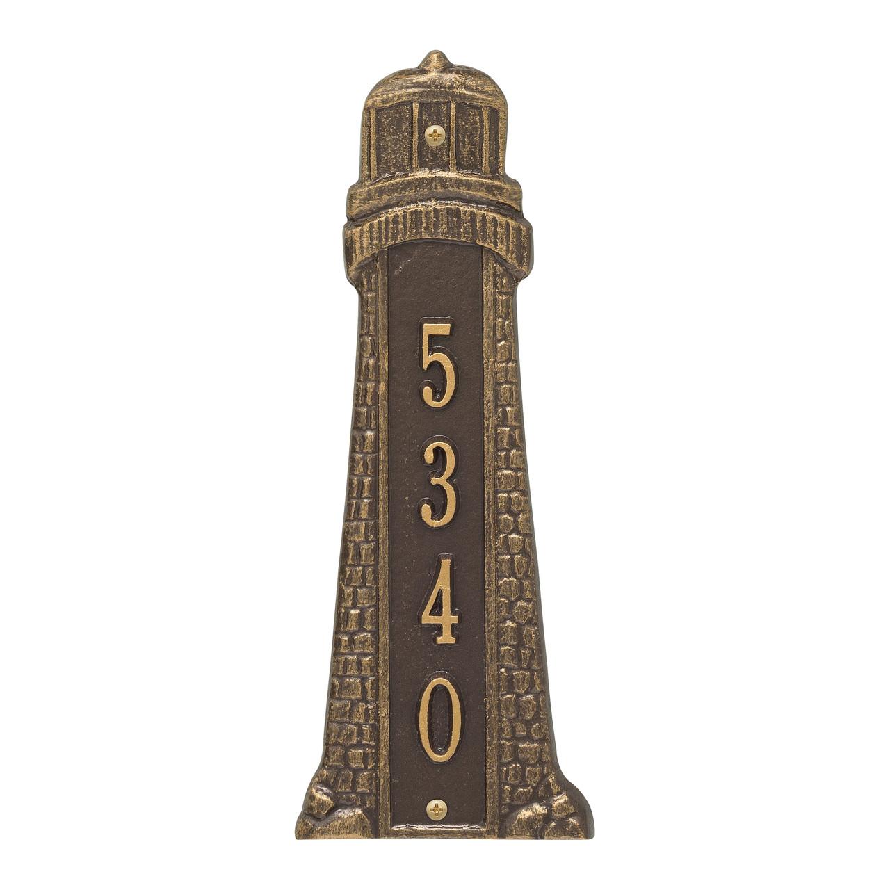 "Personalized Lighthouse Nautical Address Plaque - 12"""