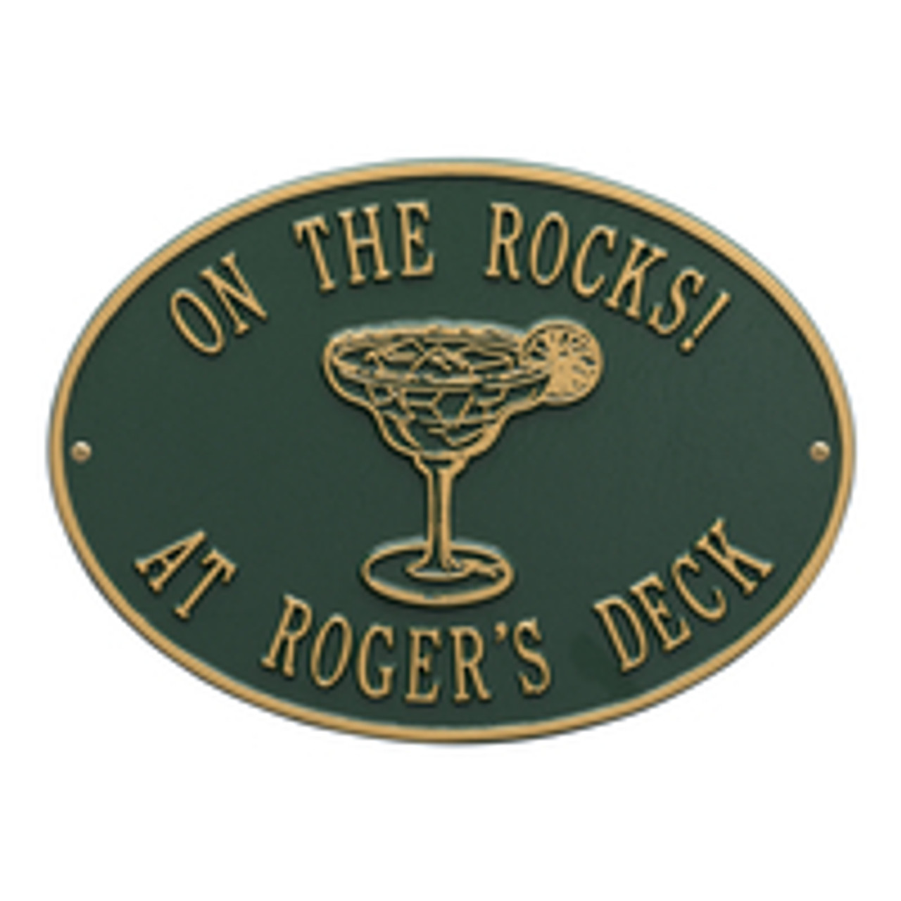 Personalized Margarita Bar Plaque