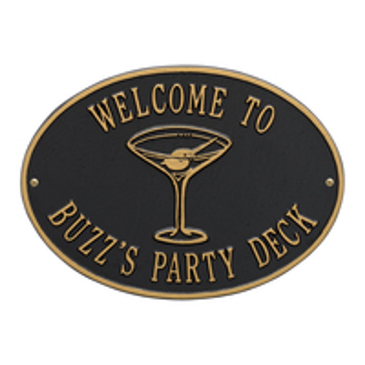 Personalized Martini Bar Plaque