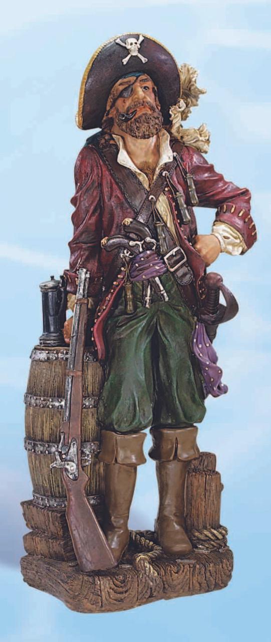 "Pirate with Rifle Decorative Figurine 25"""