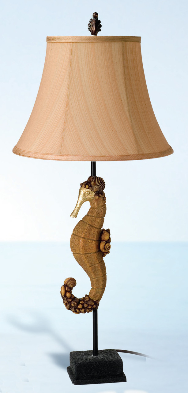 Table Lamp with Seahorse Base 34""