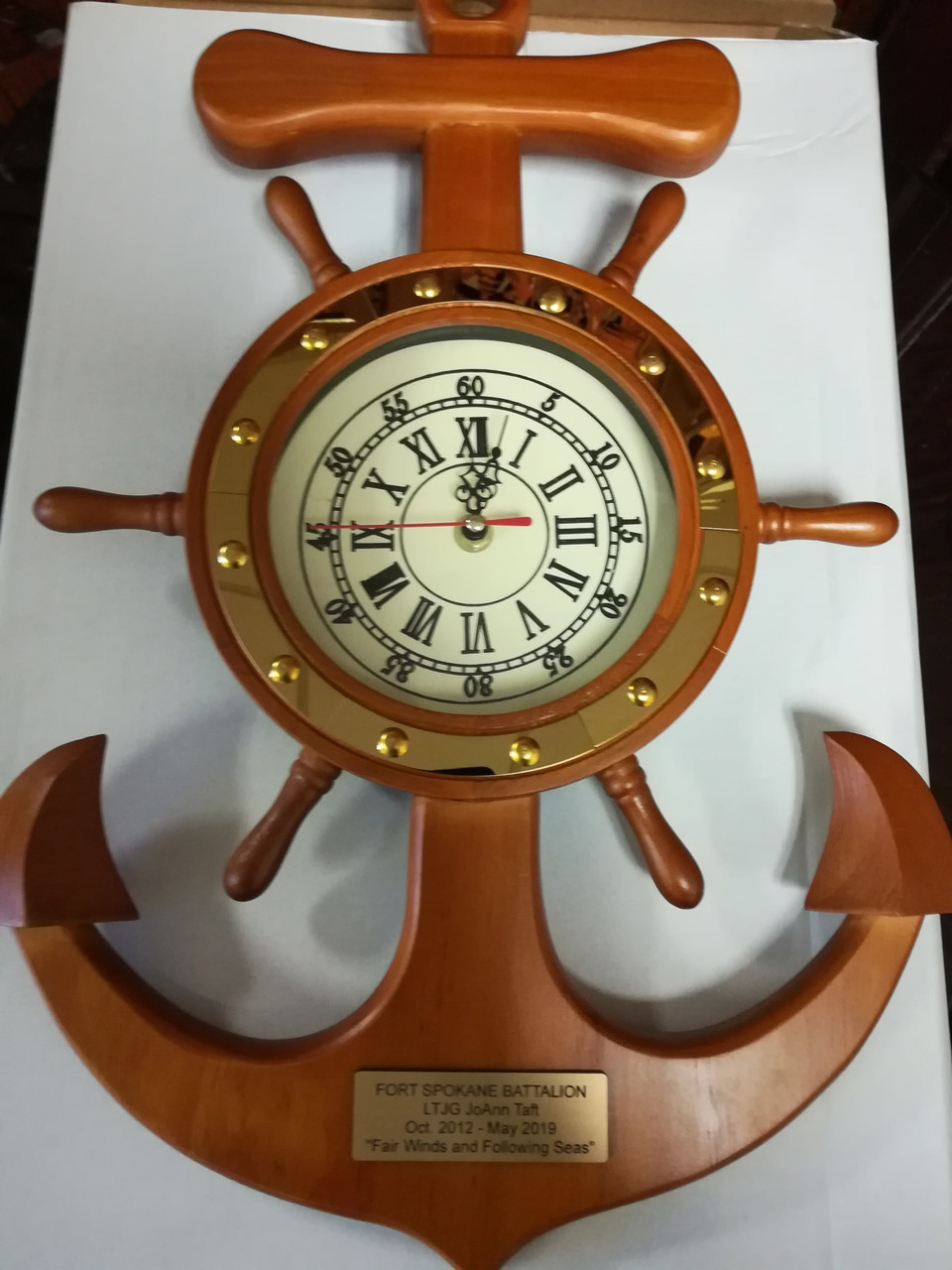 Nautical Ship Wheel with Captain's Clock - 4 sizes available
