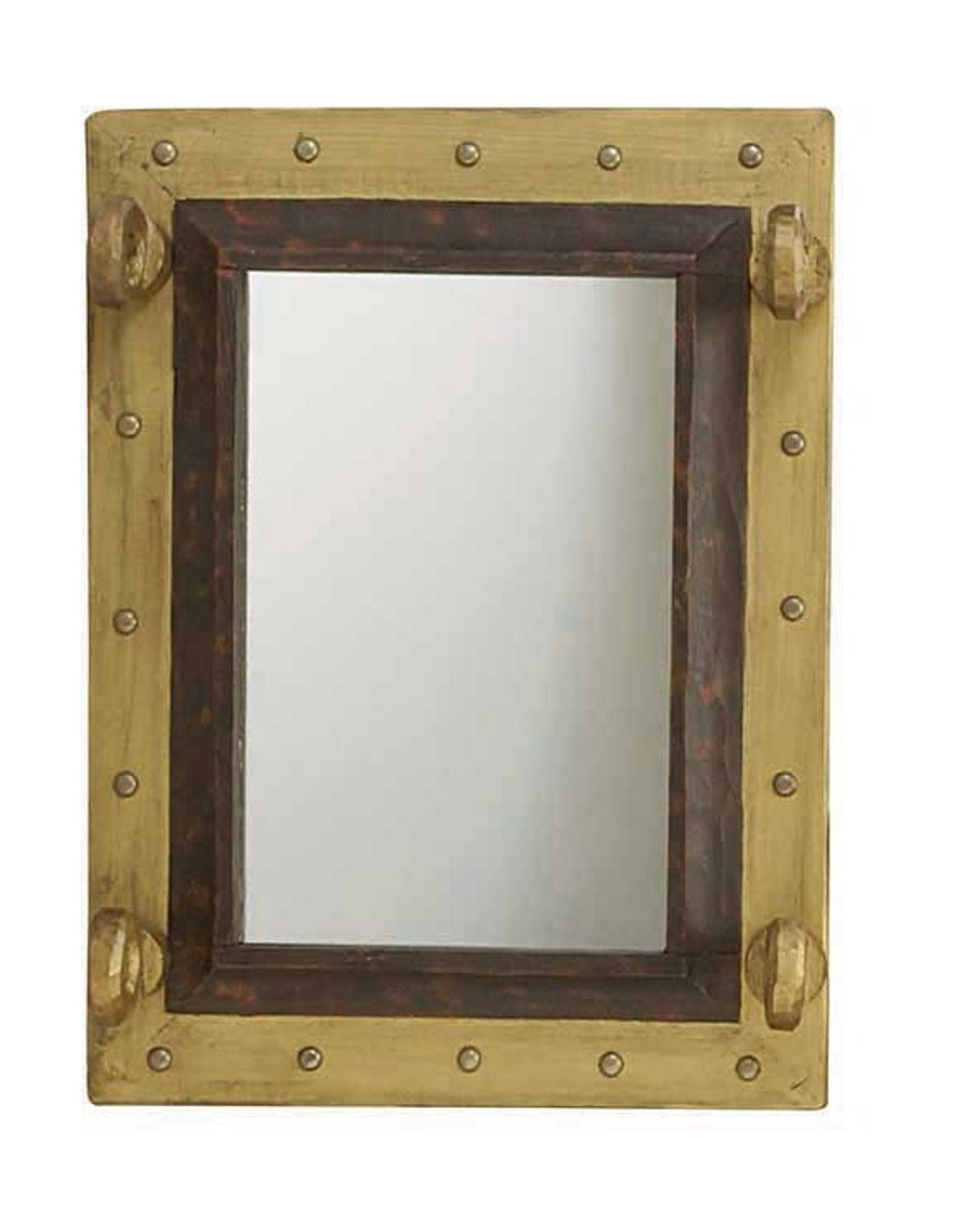 Wooden Porthole Mirror