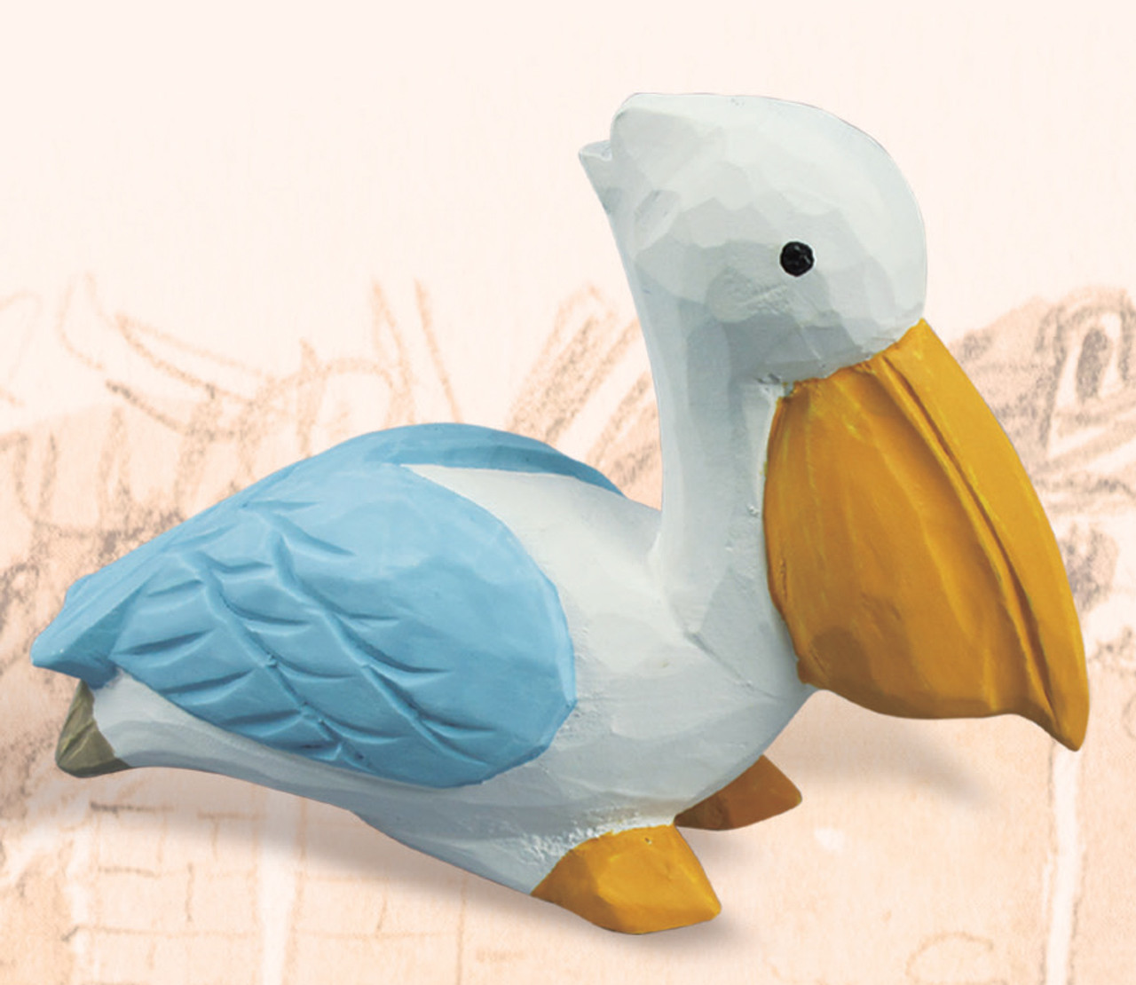 Decorative Wooden Pelican