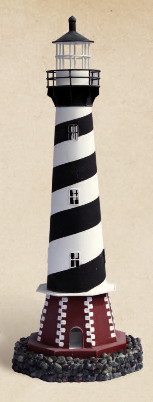 Large Cape Hatteras Lighthouse Nautical Candle Holders