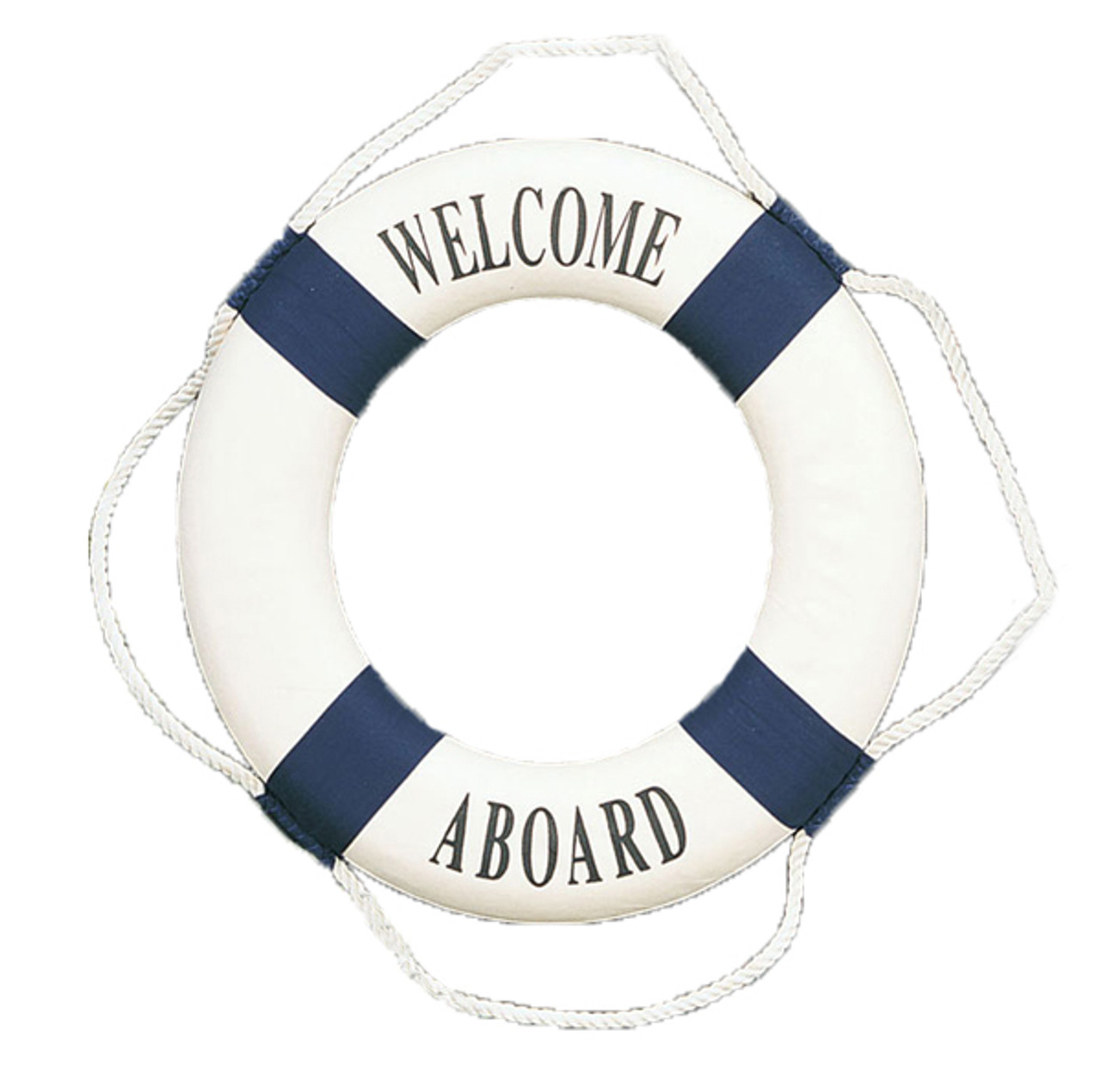 "Nautical Sign - ""Welcome Aboard"" Decorative Life Ring"
