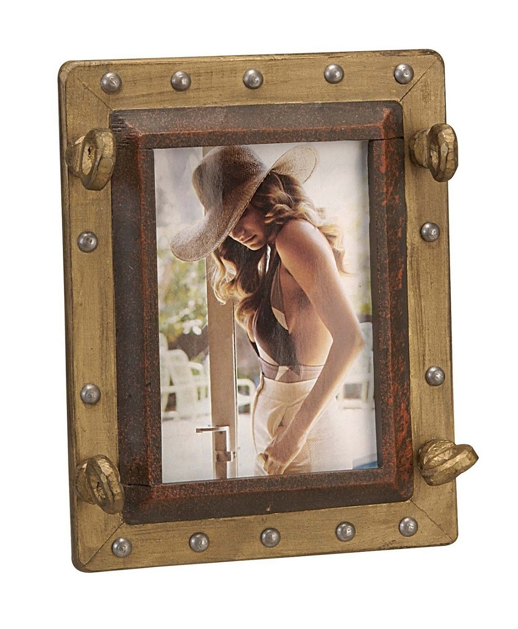 Wooden Porthole Picture Frame