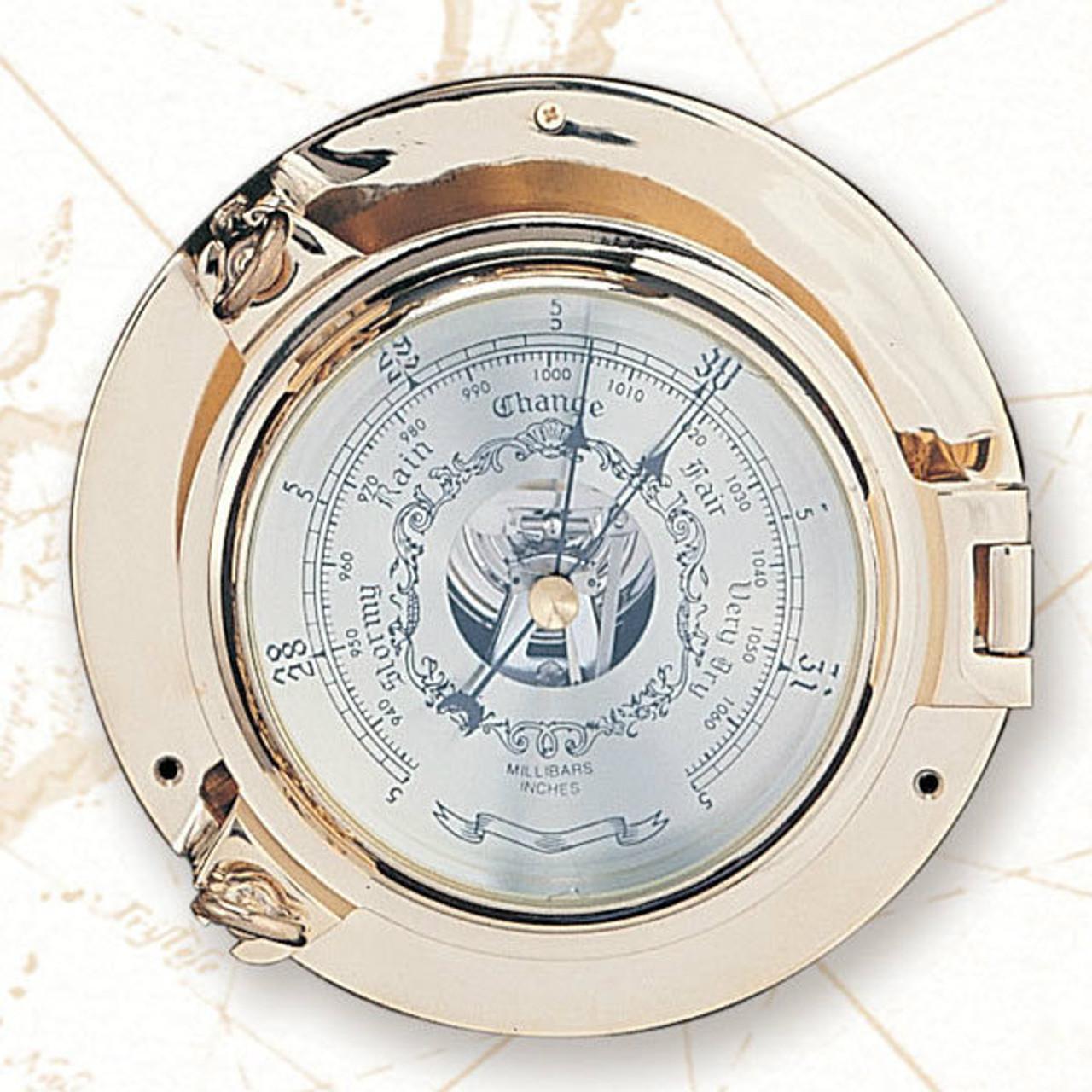 """(TK-234 7.5"""") 7.5"""" Porthole Barometer"""