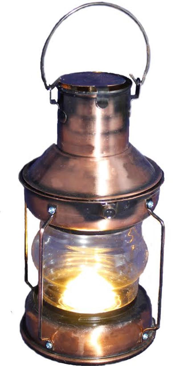 "Brass Anchor  Lamp- 9.5"" LED"