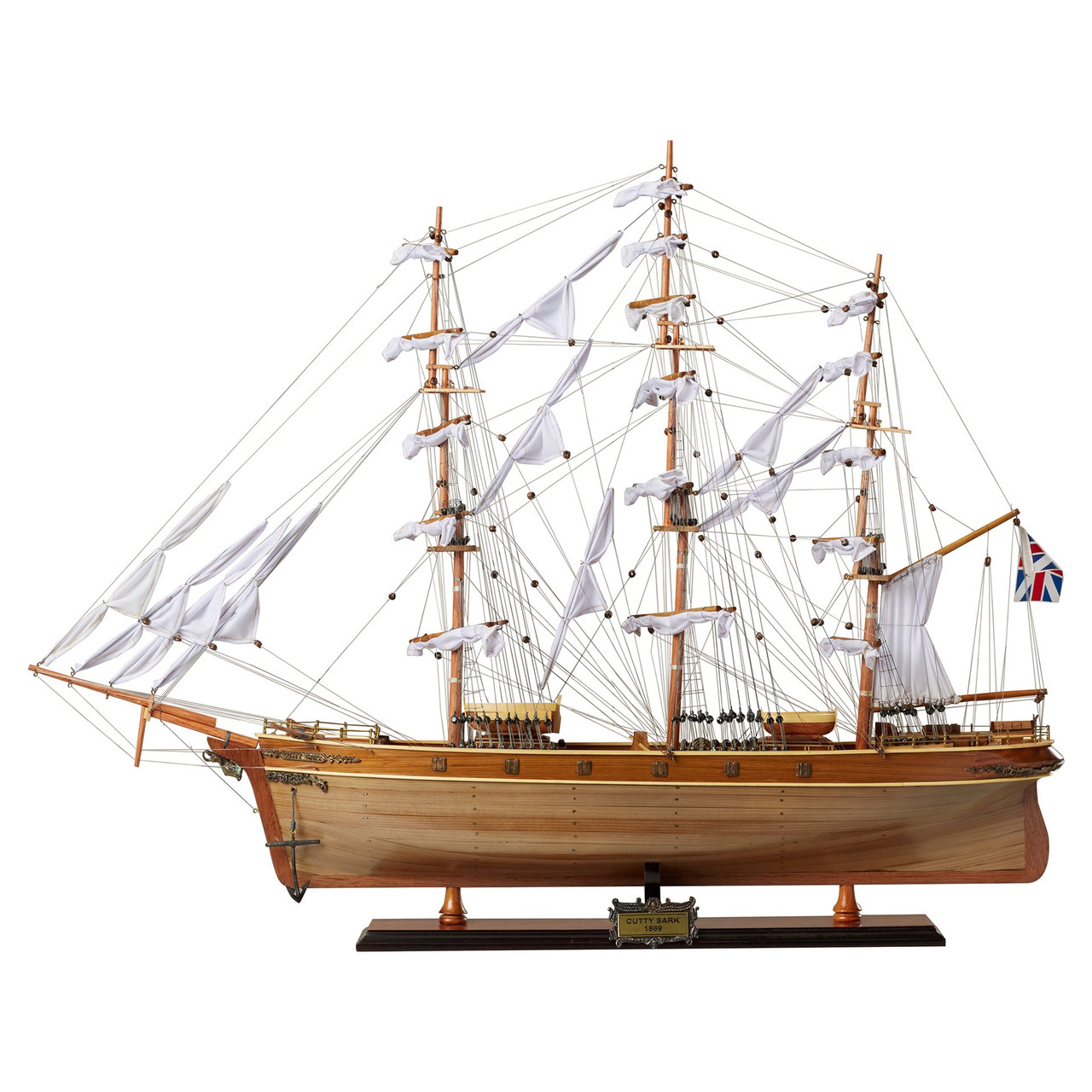 """Cutty Sark Model Ship -27.5""""  w/ Optional Personalized Plaque"""