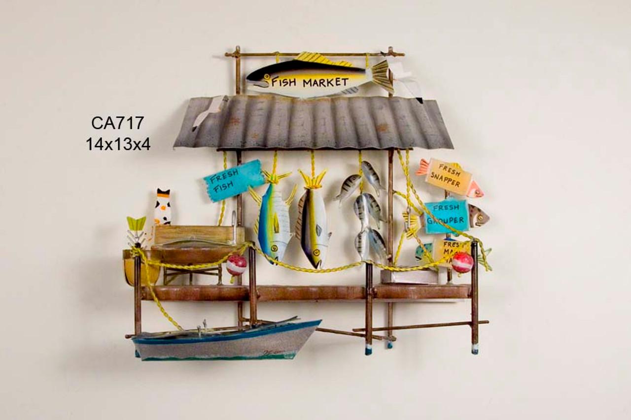 Fish Market Wall Sculpture