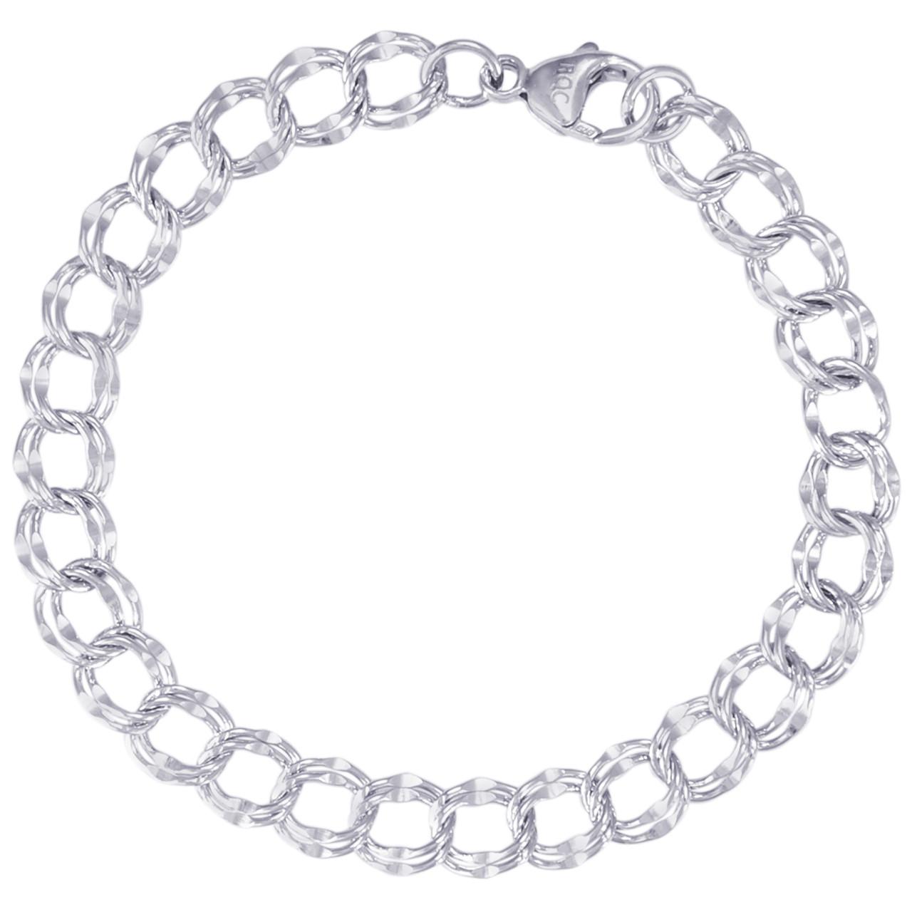 "Double Link Charm Bracelet 7"""