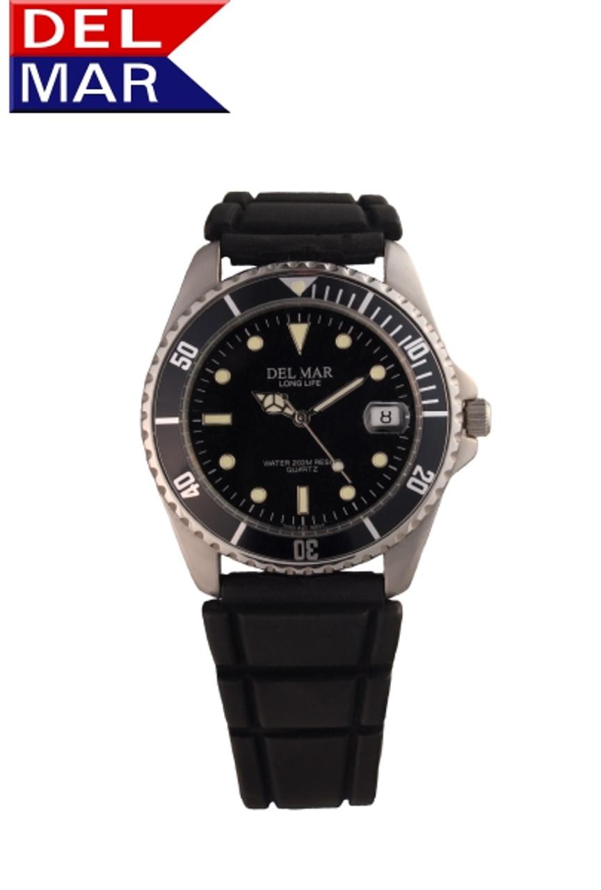 Del Mar Men's 200M Watch with Sport Strap - Black Face