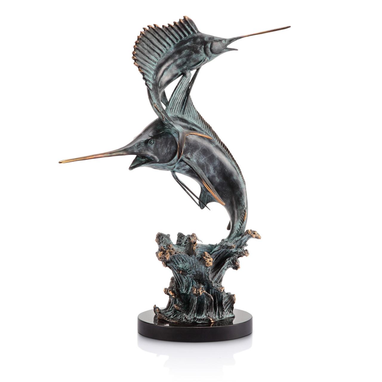 Sailfish Sculpture - Two Bills Marlin & Sailfish