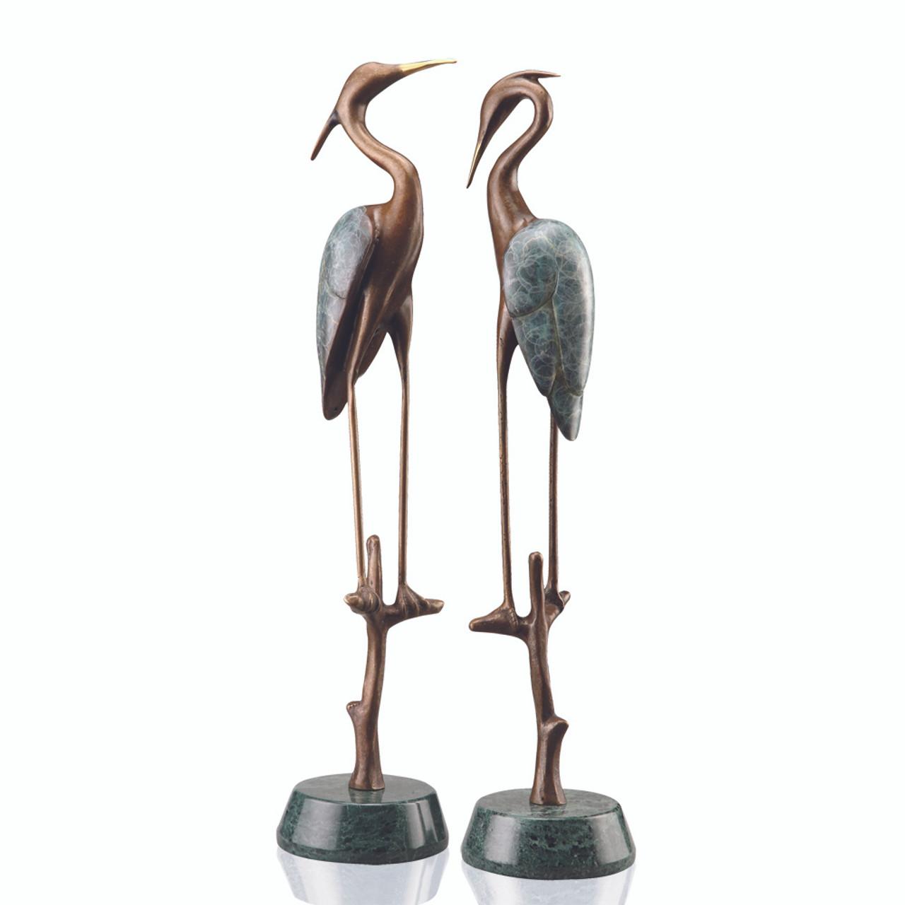 Wetlands Heron Pair Sculpture
