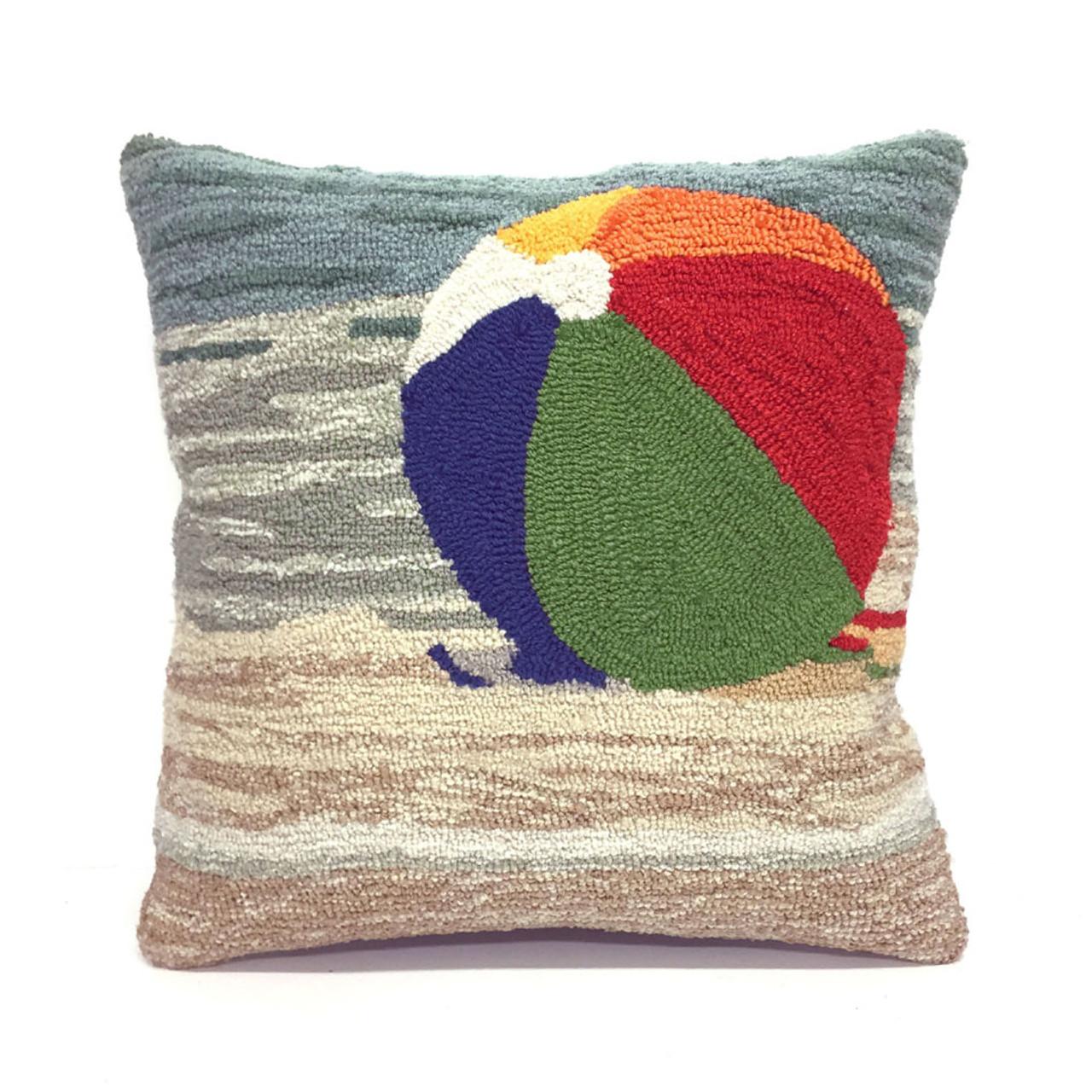 Frontporch Beach Ball Indoor/Outdoor Throw Pillow