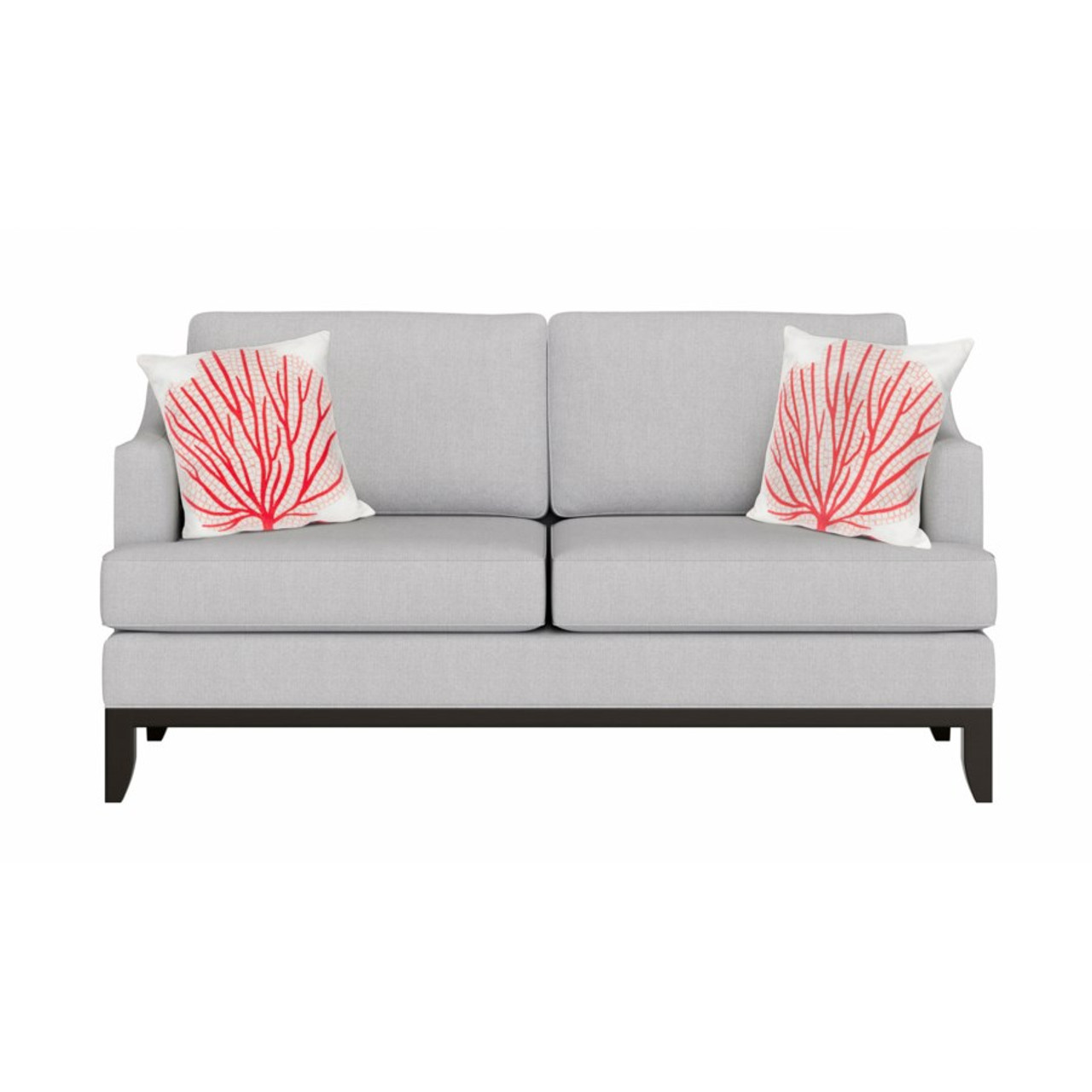 Visions Coral Fan Indoor/Outdoor Throw Pillow -  Square Lifestyle