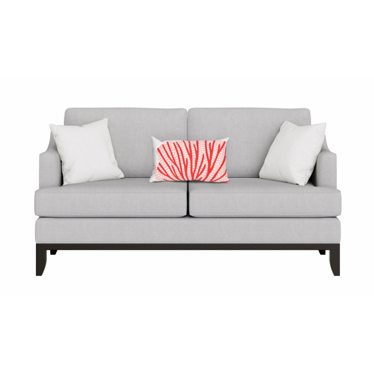 Visions Coral Fan Indoor/Outdoor Throw Pillow -  Rectangle Lifestyle