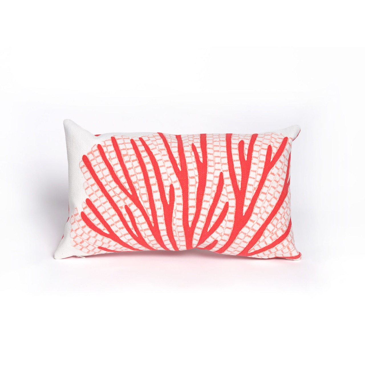 Visions Coral Fan Indoor/Outdoor Throw Pillow -  Rectangle