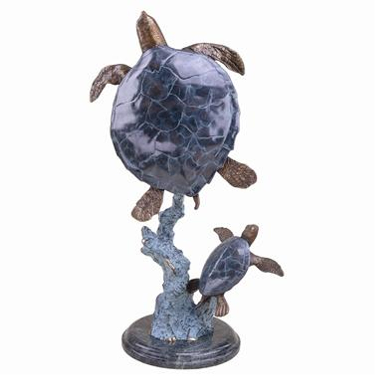 Mother and Baby Sea Turtle Home Décor Sculpture