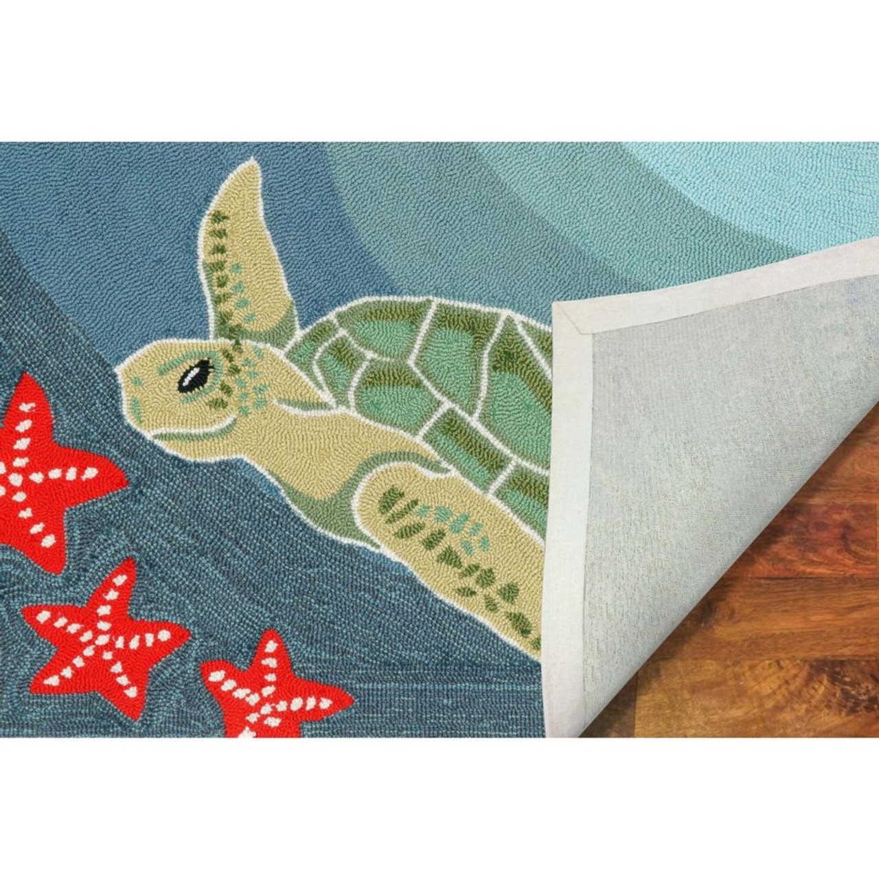 Sea Turtle Indoor/Outdoor Rug  -  Backing