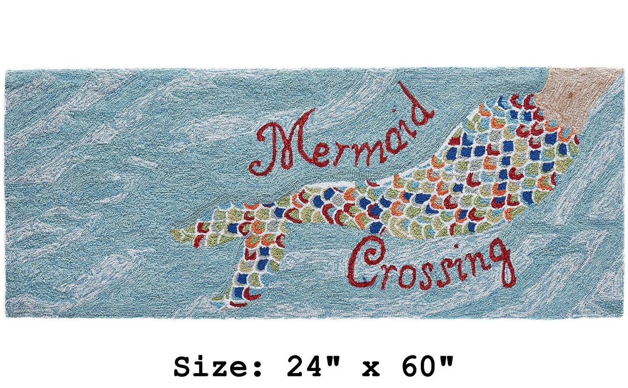 """Mermaid Crossing"" Indoor/Outdoor Rug - Runner 1"
