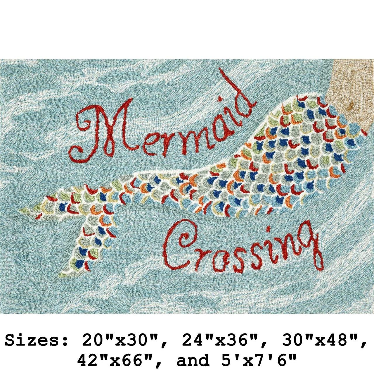 """Mermaid Crossing"" Indoor/Outdoor Rug -  Small Rectangle 1"