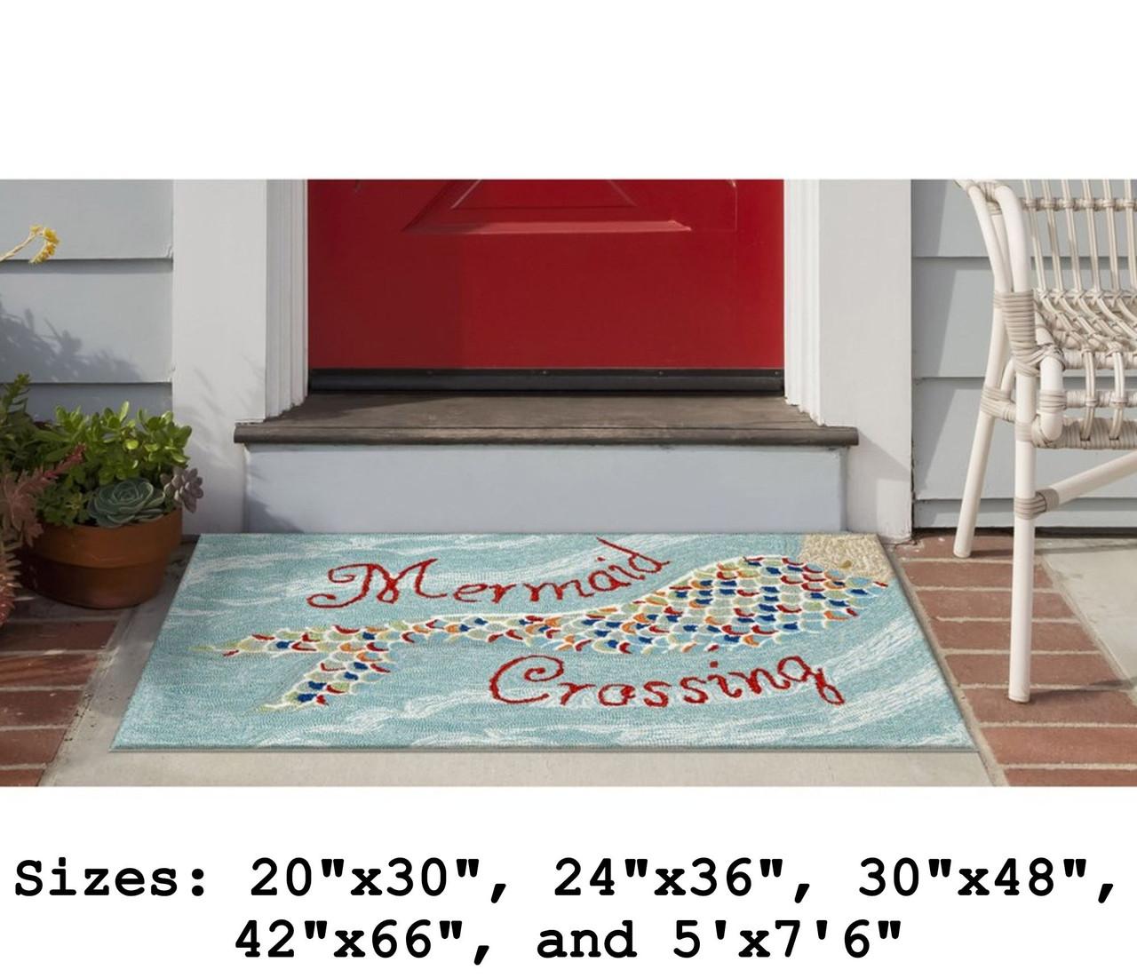 """""""Mermaid Crossing"""" Indoor/Outdoor Rug -  Small Rectangle Outdoor"""