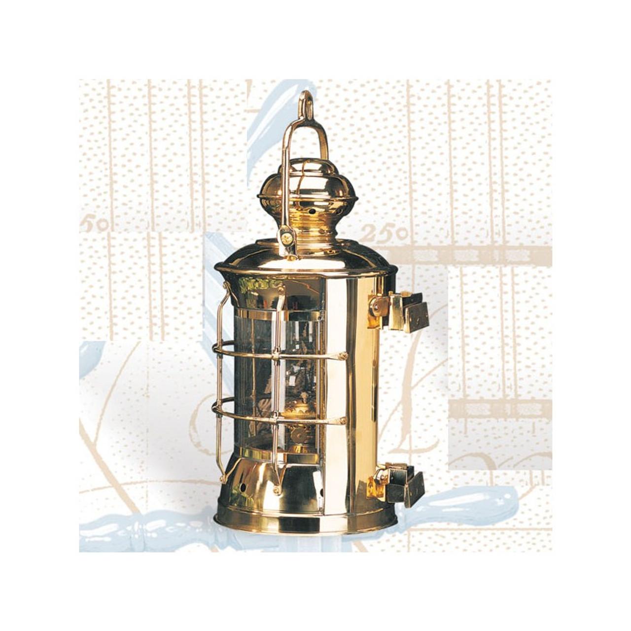 "(BL-841 Electric) 14.5"" Brass Masthead Electric Lantern"