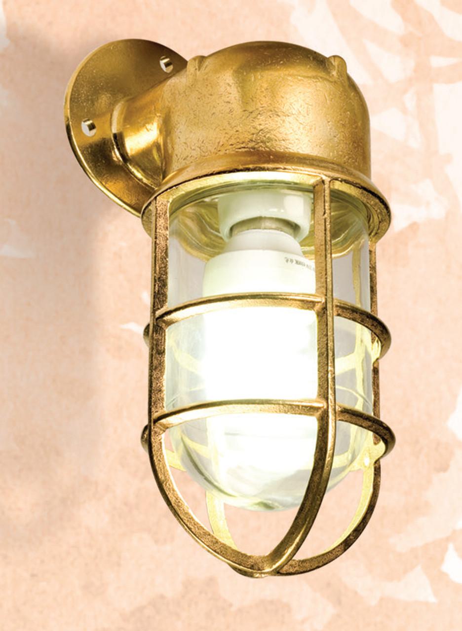 "(BL-864) 10"" Brass Oceanic Angle Lamp Fixture"