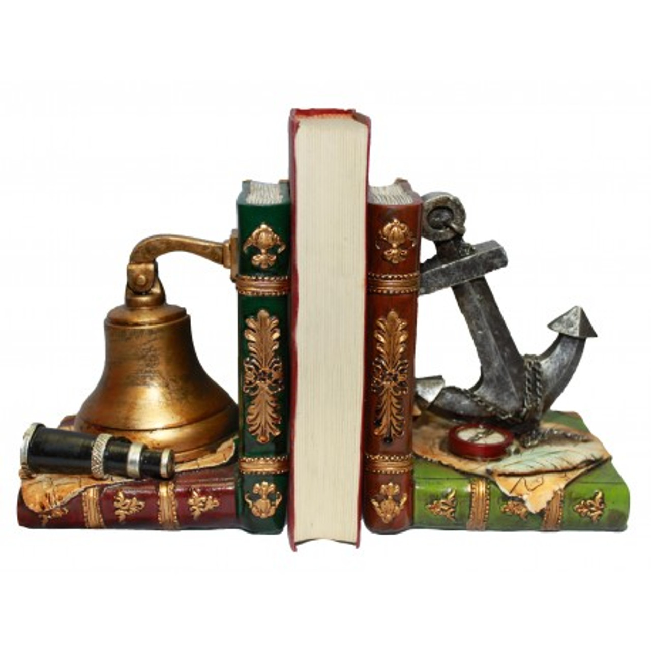 Decorative Anchor and Bell Bookends