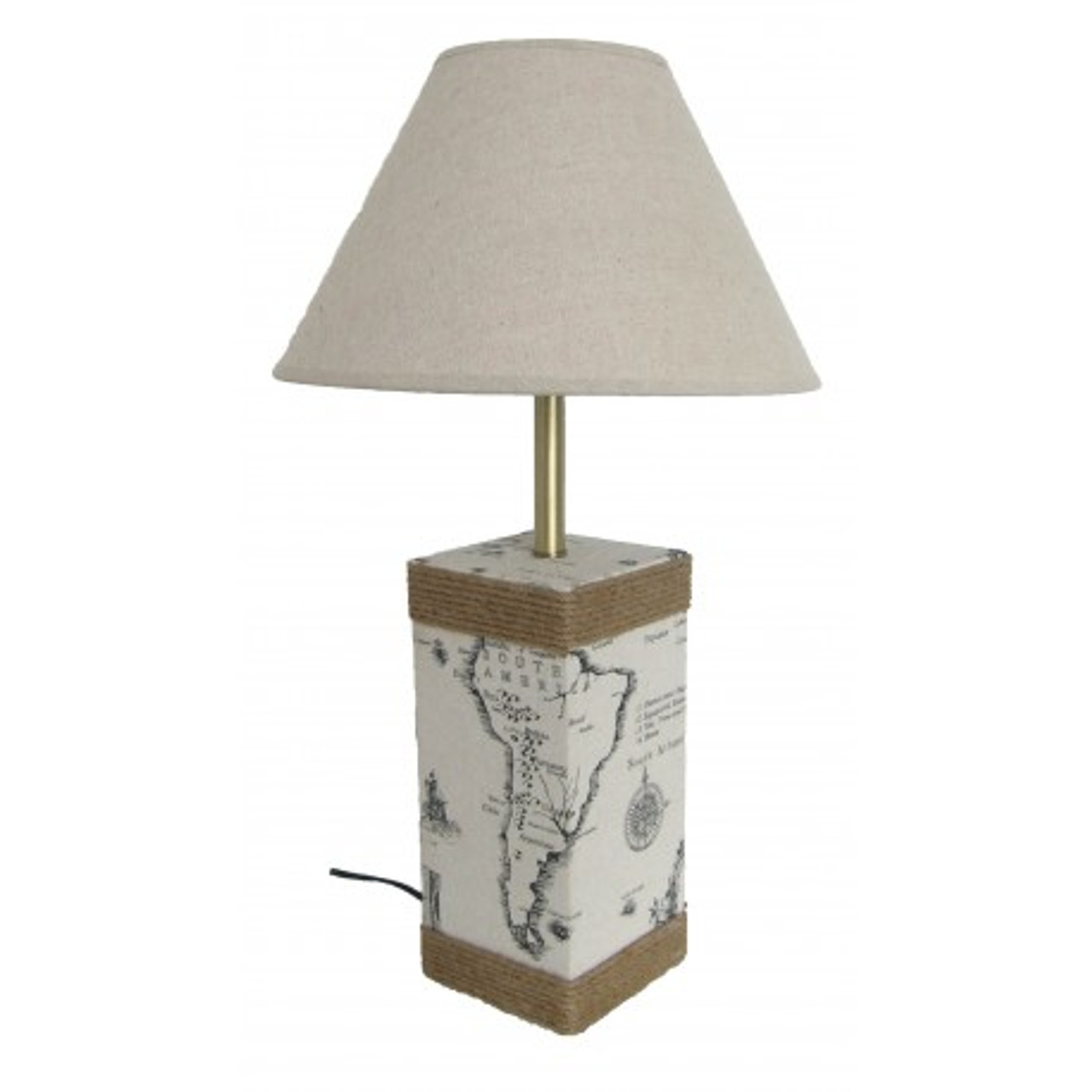 Nautical Lamp with Map 22.5""