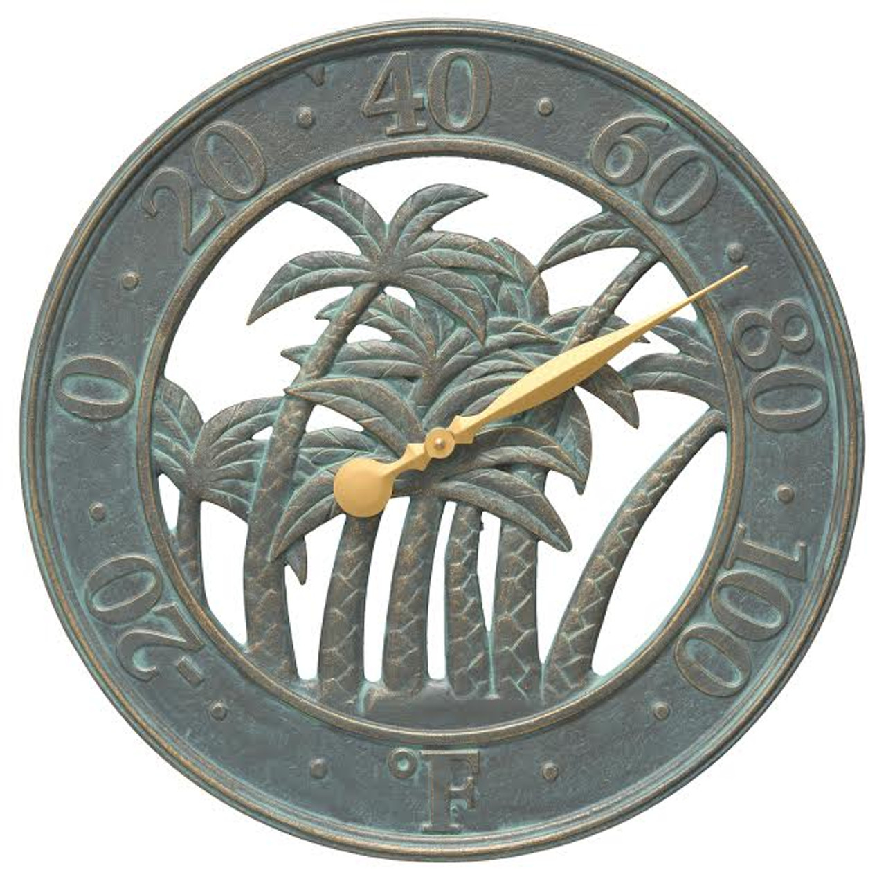 """Palm Tree Silhouette Indoor/Outdoor Thermometer - 18"""""""