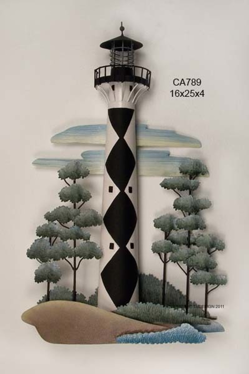 Cape Lookout Lighthouse Nautical Wall Sculpture