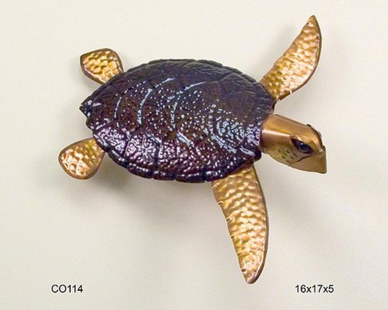 Looe Key Sea Turtle Copper Wall Sculpture