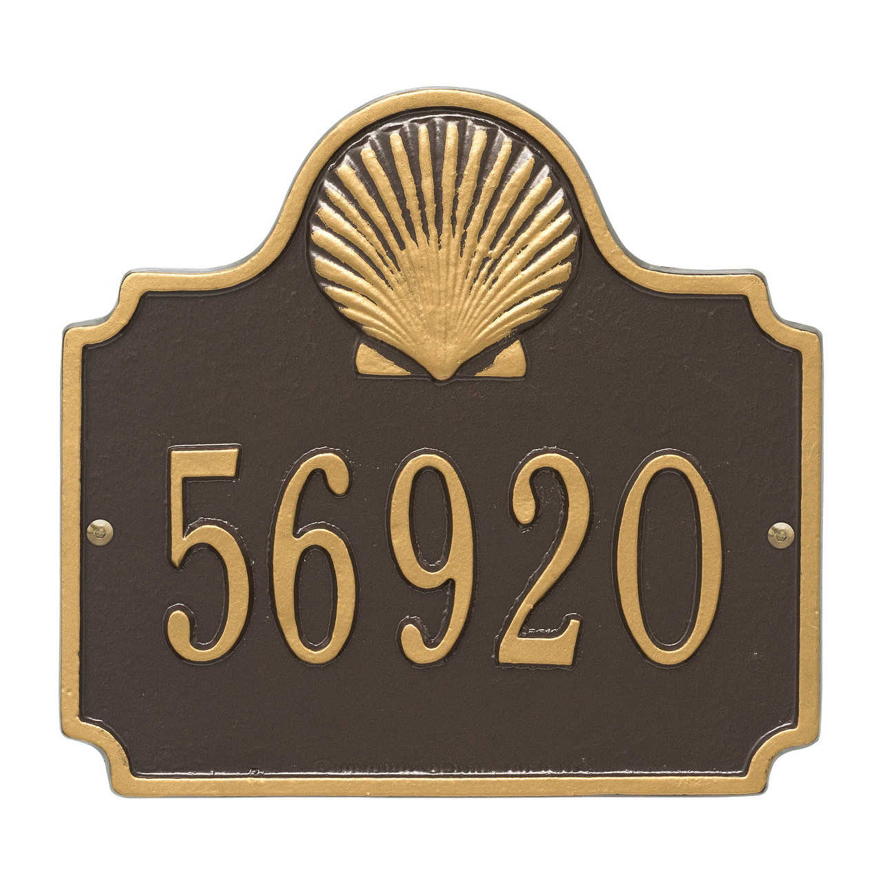 Personalized Conch Nautical Address Plaque - One Line