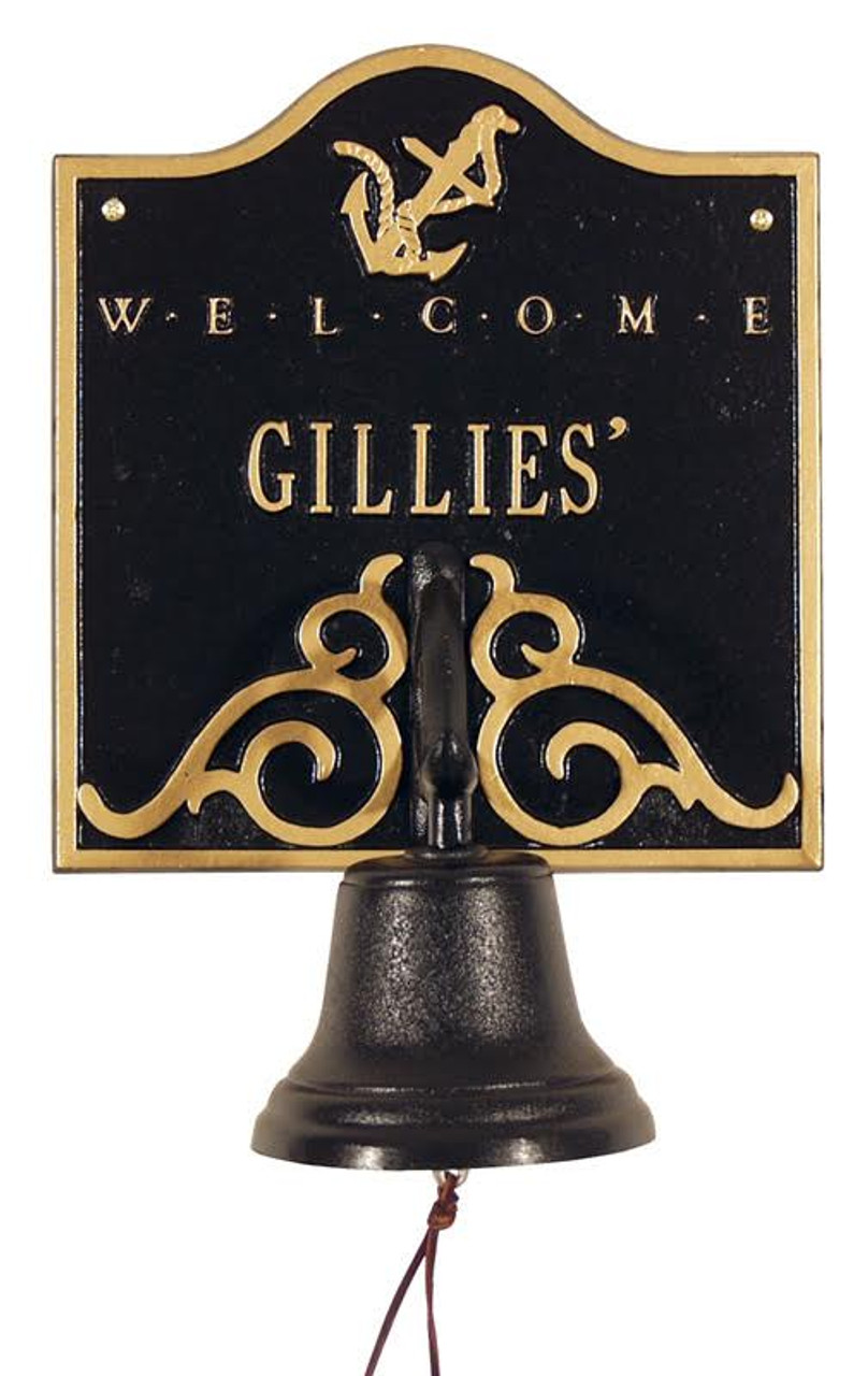 Personalized Anchor Welcome Bell Nautical Plaque - #2