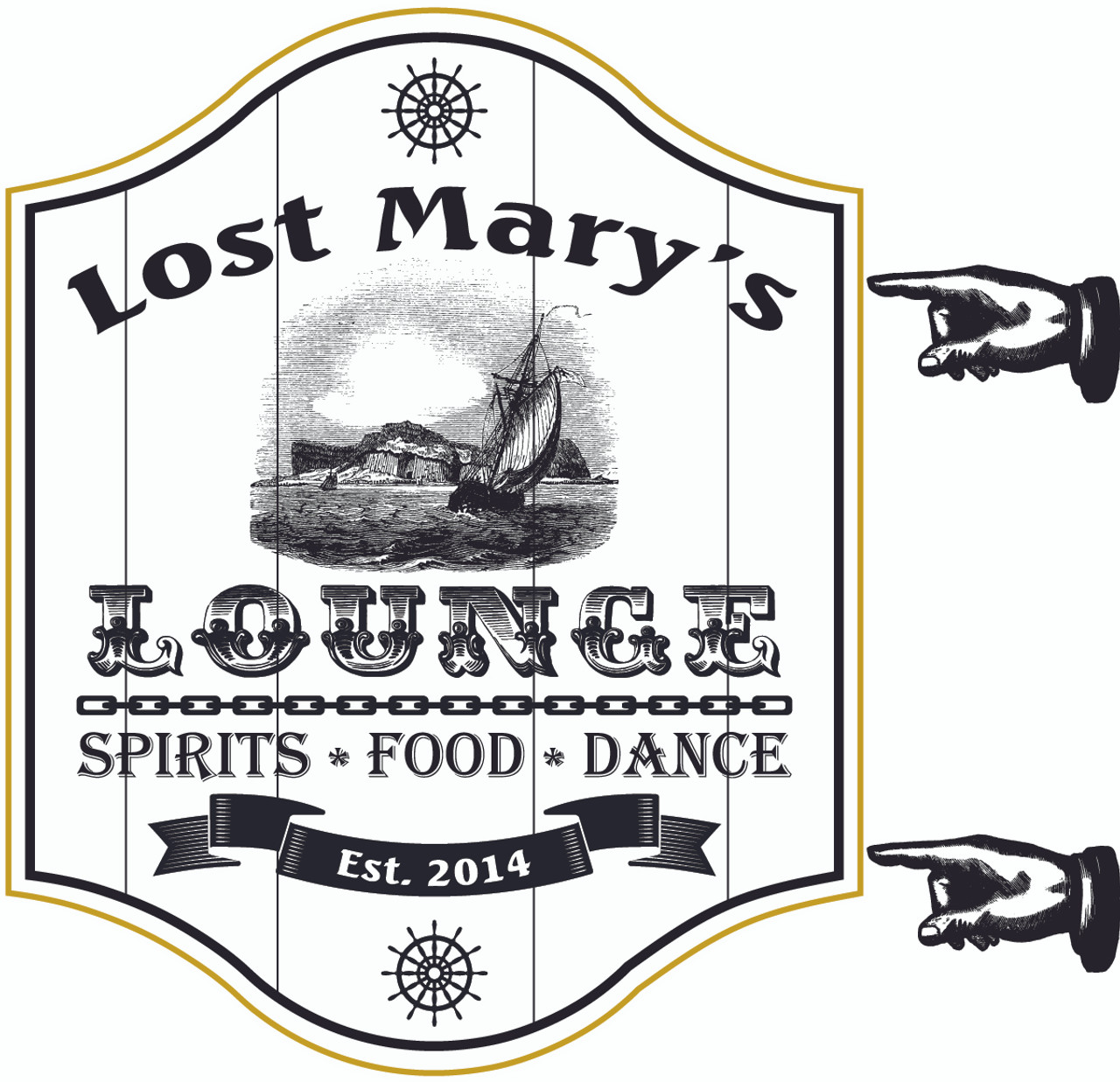 Personalized Lost Mary's Lounge Sign