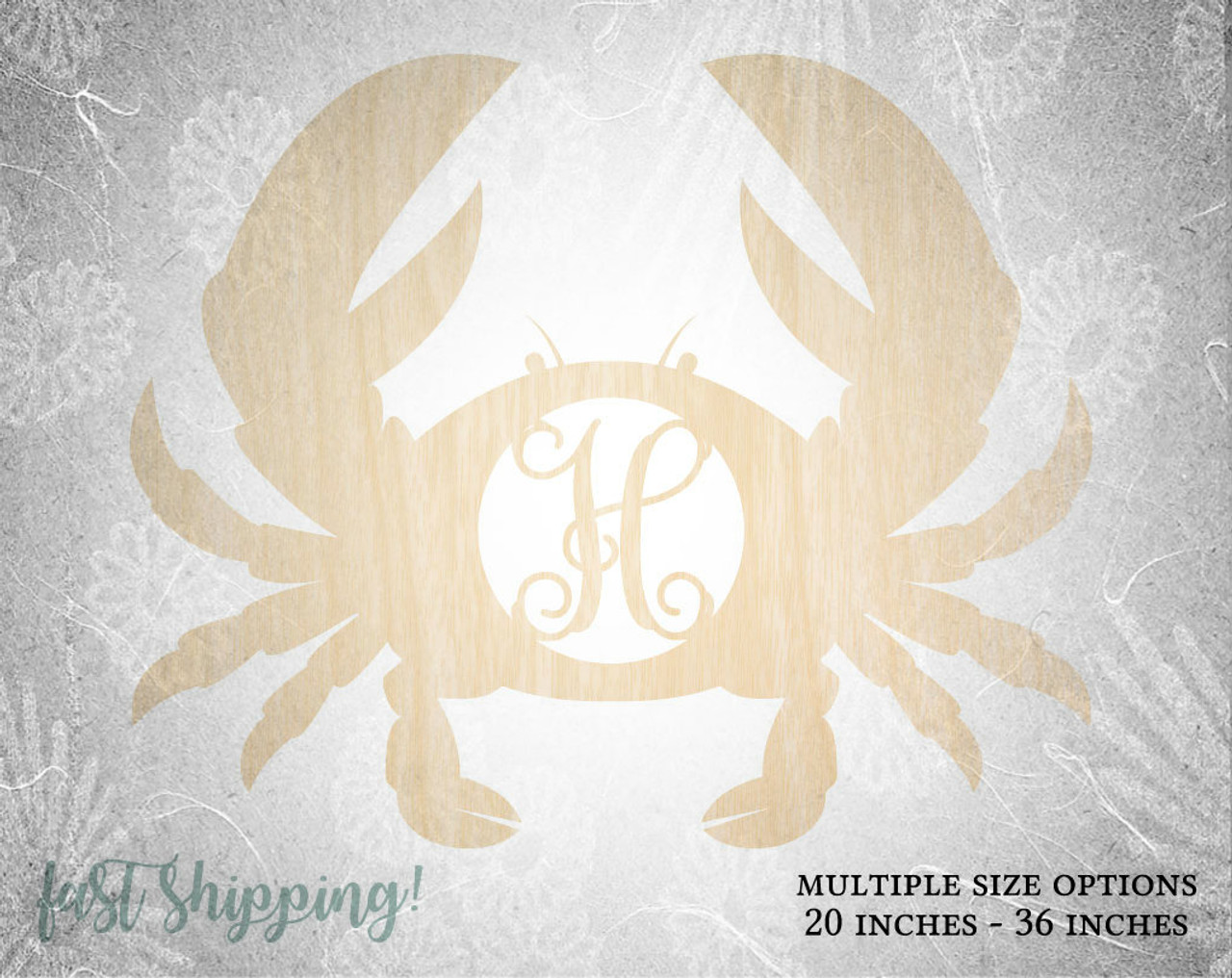 Personalized Wooden Crab Wall Decor