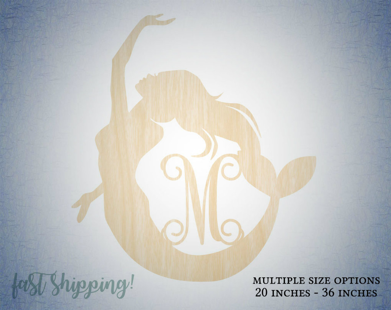 Personalized Wooden Mermaid Wall Decor