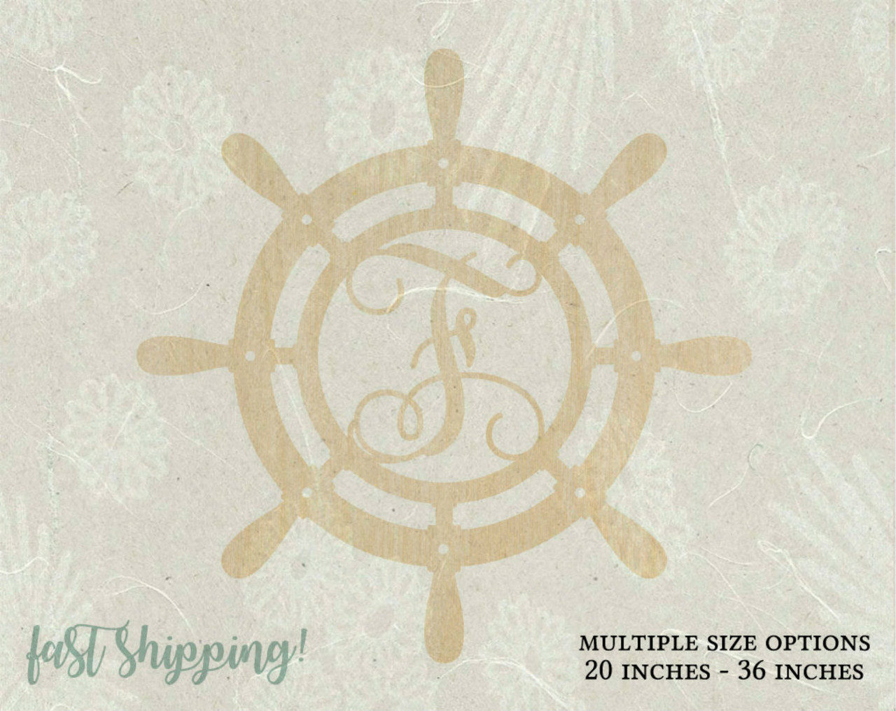 Personalized Wooden Ship Wheel Wall Decor
