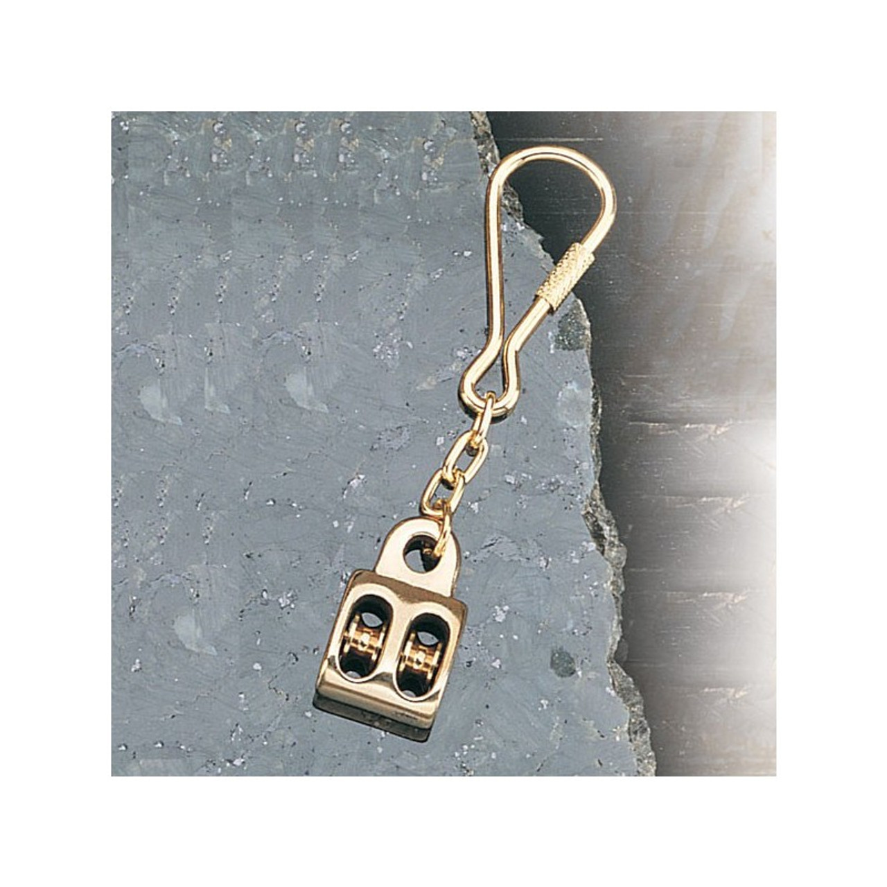 Brass Key Chain -Ship's Pulley