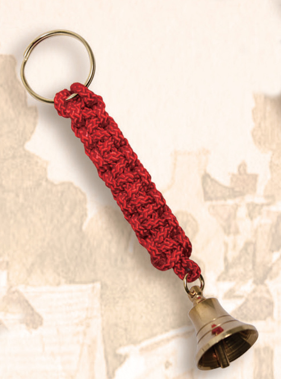 Brass Key Chain - Bell with Red Lanyard