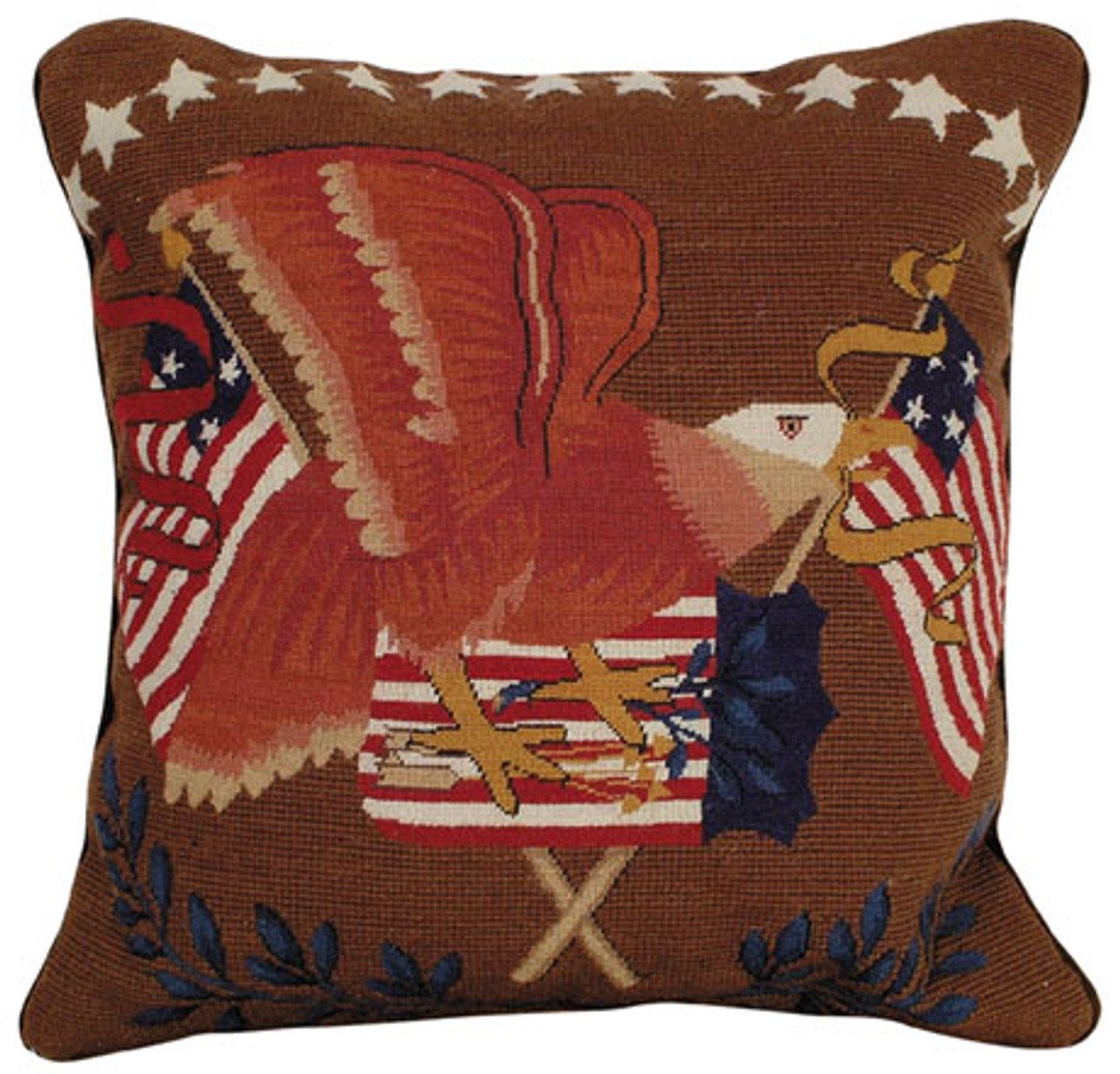 Flag Mixed Stitch Pillow