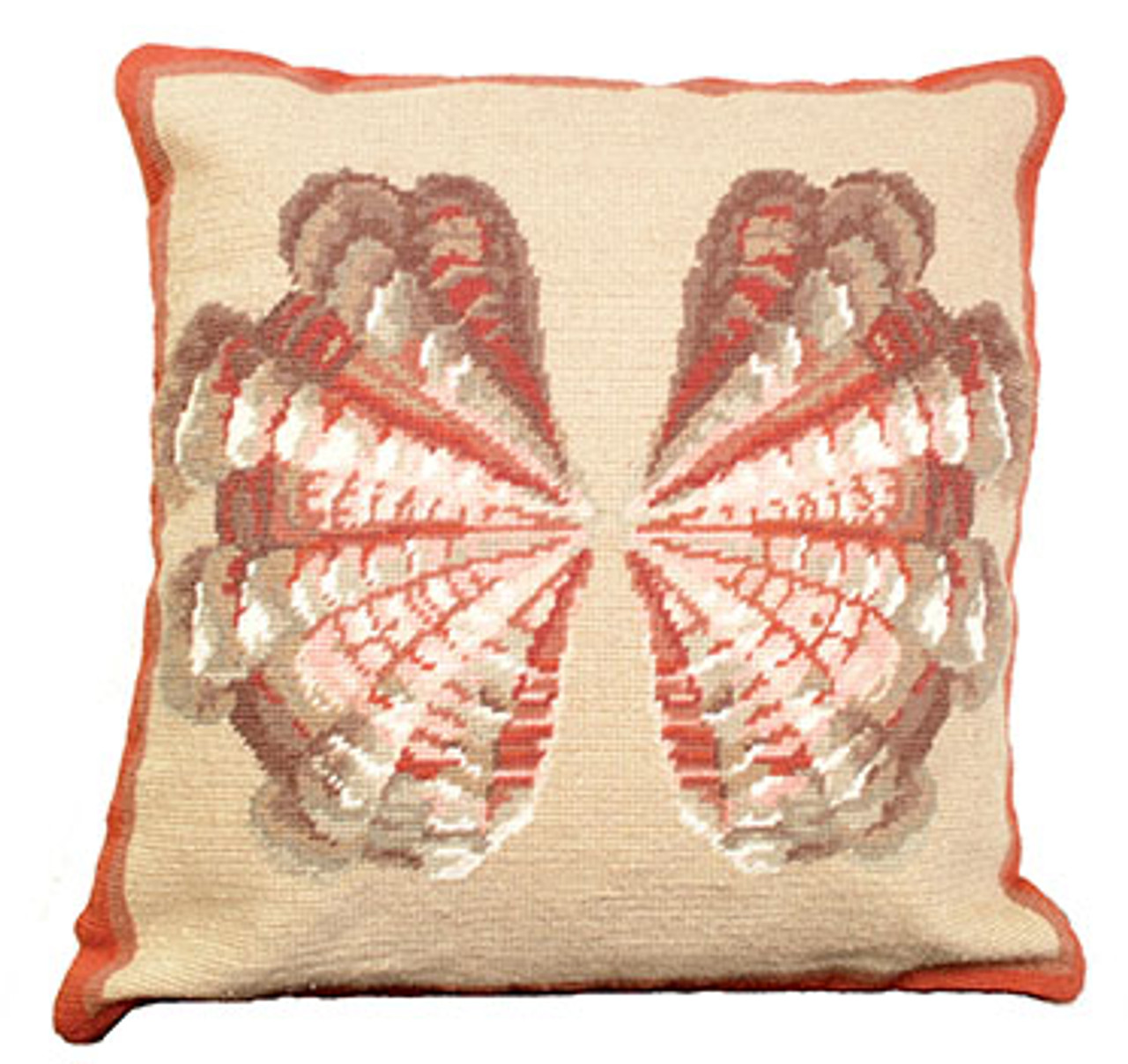 Atlantic Cockle Needlepoint Pillow